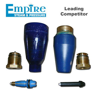 Empire Steam & Pressure Rotating Hydrovac Nozzle.